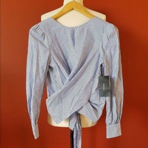 Zara Tops - Zara Backless Striped Blouse